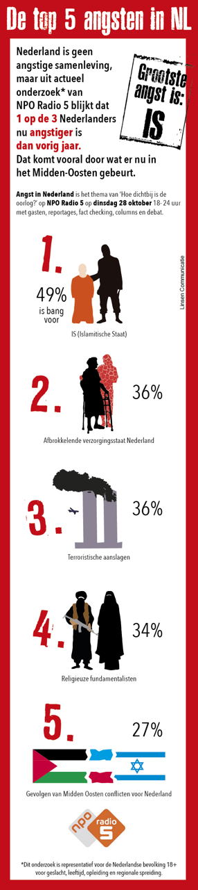 Infographic voor NPO over top 5 angsten 2014