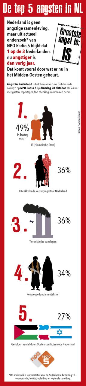 Infographic voor NPO over top 5 angsten 2014