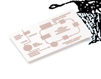 Tekstschema voor infographic