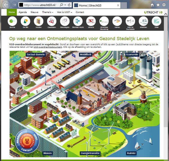 Homepage U10 opent de homepage met een gelaagde infographic